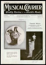 1925 Tamaki Miura 2 photo Musical Courier framing cover