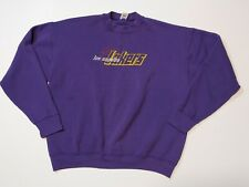 Vintage Los Angeles LAKERS Embroidered Fruit Loom Sweater Size XL