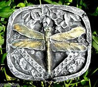 Dragonfly plaque mold plaster concrete small stepping stone plastic mould