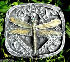 """Dragonfly stepping stone plastic mold 8"""" x 7"""" x 1"""" thick"""