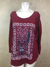 Lucky Brand Cotton Batik print Tshirt Msrp $39________ R12B1