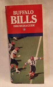 Mint 1986 Buffalo Bills NFL Media Guide Yearbook Press Book Program Bruce Smith