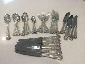 Vintage 44pcs Trafalgar Sheffield Harrison Fisher & Co Cutlery Set