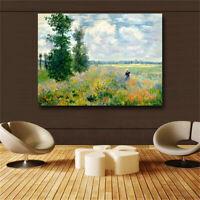 Print Claude Monet at Argenteui Landscape Oil Painting on Canvas Art Wall
