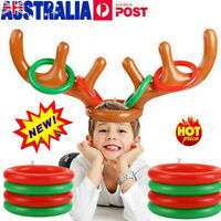 Inflatable Reindeer Antler Hat Ring Toss Game Christmas Xmas Party Kids Gift MN