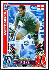 Scott Carson England #28 England 2012 Match Attax TCG Card (C206)