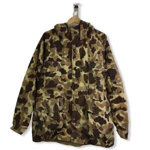 Cabela's Mens Duck Pattern Camouflage Jacket & Pant Set Multicolor Hood One Size