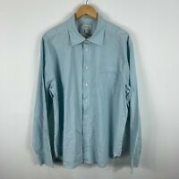 Country Road Mens Button Up Shirt Size 2XL Blue Striped Long Sleeve Collared