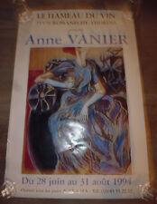ancien affiche Hameau du Vin Romaneche 71 expo peinture Anne Vanier 1994