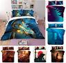 3PCS Godzilla Boys Bedding Set Comforter Quilt Cover Pillowcases Duvet Covers