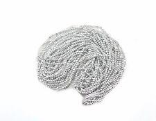 Plata brillante redonda con cuentas de Costura Bordado Rocaille joyas HAZLO TÚ MISMA Decoración 2 mm