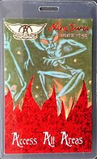 AEROSMITH - ACCESS ALL AREAS - LAMINATED BACKSTAGE PASS, laser foil, 1997 - 98