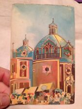 Antique/Vintage Fischgrund Postcard Mexico Holy Well Guadalupe Watercolor Look