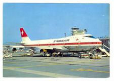 SWISSAIR Airlines Boeing B-747-257B  Postcard