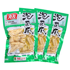 180g*5bag Chinese Food Spicy Chicken Feet Vacuum-packed 有友泡椒凤爪(山椒味)180克5袋装 Jd_uk