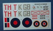 1/48ème  DECALS pour MOSQUITO  -  REVELL MONOGRAM 1992 - NEUF
