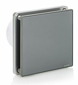 STERR - Grau Badezimmerlüfter mit Glasfront - BFS100-G