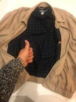 VTG Polo Ralph Lauren Mens 2XL Bayport Cotton Windbreaker Jacket Khaki Beige