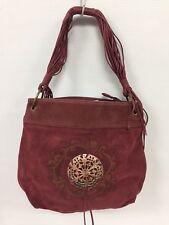 Women Leather Handbag Shoulder Purse Burgundy