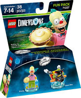LEGO 71227 Dimensions Fun Pack The Simpsons Krusty The Clown NEW, SEALED