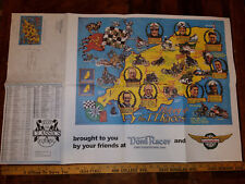 VINTAGE TT RACES ISLE OF MANN HISTORY DOMI RACER PRICE LIST & POSTER 34 X 22 NEW