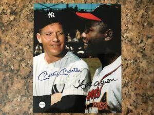 Mickey Mantle & Hank Aaron Autographed 8x10 Photo w/ COA
