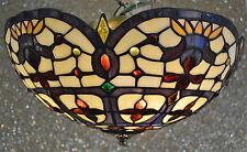 OAKS TIFFANY STAINED GLASS UPLIGHTER 3 BULB  FITTING JESSAMINE OT/1051/16R