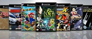 Replacement GameCube Covers W/ EU STYLE Cases Titles #-L  !!NO GAMES!!