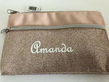 PERSONALISED ROSE GOLD PENCIL CASE STATIONERY BIRTHDAY TEACHERS CHRISTMAS GIFT