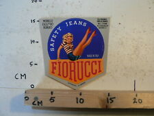 STICKER,DECAL LARGE STICKER FIORUCCI SAFETY JEANS MADE IN ITALY PIN-UP GIRL LARG