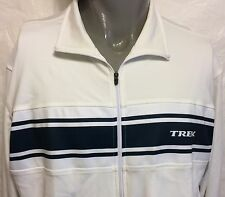 Trek Cream Bontrager Zip Up Jacket Size XL Bicycle Cycling Lightweight Bike