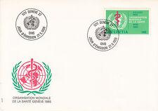 Schweiz  FDC Ersttagsbrief 1986 OMS/WHO Emblem  Mi.Nr.40