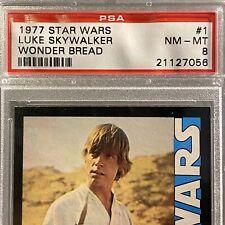 1977 Star Wars Luke Skywalker Wonder Bread #1 PSA 8 NM-MINT Rookie