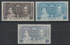 1937 Aden */MLH Mi.13/15 Krönung Coronation König King Georg Queen [sv0395]
