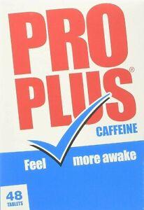 Pro Plus Caffeine Tablets - 48 Tablets - Feel More Awake