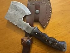 Brussel Handmade Damascus Steel Hard Wood Hunting Clever Chopper Axe Knife
