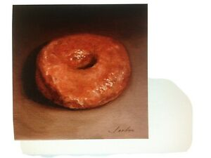 Glazed Donut still life Original Oil Painting