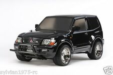 Tamiya # 58627  RC Mitsubishi Pajero Black Sp. - CC01 Black Painted Body  NIB