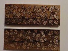 NEW Stabilized Ambrosia Maple Laser Cut Oak Leaf Design Knife Scales 2x5x3/8
