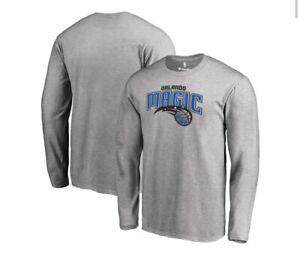 Orlando Magic NBA Men's 6XLarge  Basketball Fanatics Gray Long Sleeve Shirt