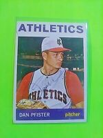 1964 TOPPS Signed Autograph #302 Dan Pfister Athletics