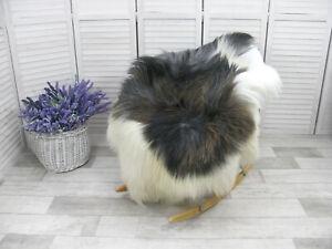 Grey Sheepskin Rug Genuine Icelandic Soft Fur Shaggy Chair Floor Cover G26