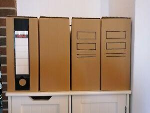 Archivboxen aus Karton, 10 Stück