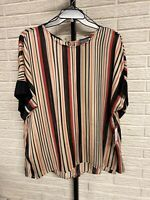 Vince Camuto womens blouse shirt top black red orange plus size 3X NEW $89 #M35