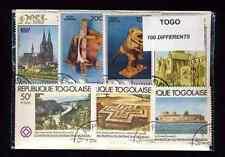 Togo 100 francobolli diversi