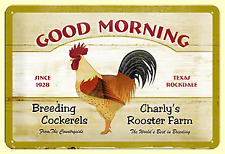 Blechschild 22192 - Good Morning - 20 X 30 cm - Neu