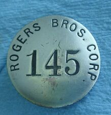 Vintage Employee Badge: ROGERS BROTHERS CORP: Hauling Trailers; Albion PA