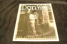 Don Was of Was (Not Was) 1997 article for 20th Anniversary, David Was