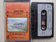 SING AN IRISH SONG VOL.20 KEVIN BARRY CASSETTE, 1986 HOMESPUN, TESTED