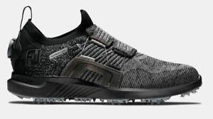 NEW 2021 FootJoy HyperFlex Boa Mens Golf Shoes Black/Charcoal 51087 10M